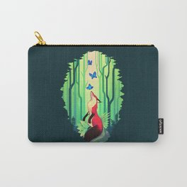 The Fox and the Butterflies Carry-All Pouch