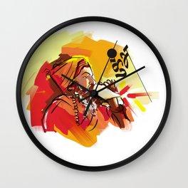 Kumbh Mela India Yogi Wall Clock