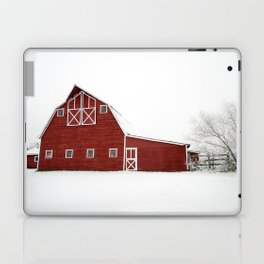 Snowy Red Barn Laptop & iPad Skin