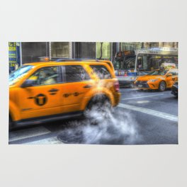 New York Taxis Rug