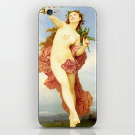 Day : Nude by William-Adolphe Bouguereau iPhone Skin