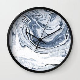 Kiyomi - spilled ink japanese monoprint marble paper marbling art print cell phone case with marble Wall Clock