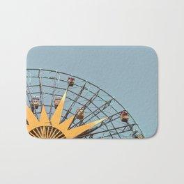Ferris Wheel and Dusty Blue Sky Bath Mat