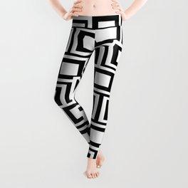 Black and White Squares Pattern 02 Leggings