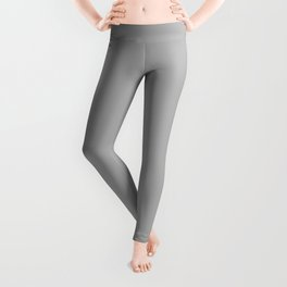 Simple Gray / Grey Luxe Solid Color Leggings