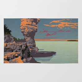 Fathom Five National Park Poster (Flowerpot Island) Rug
