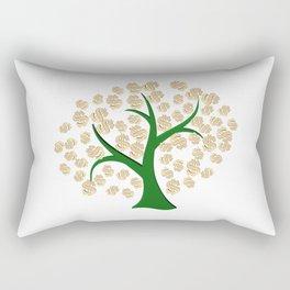 Golden dollars tree Rectangular Pillow