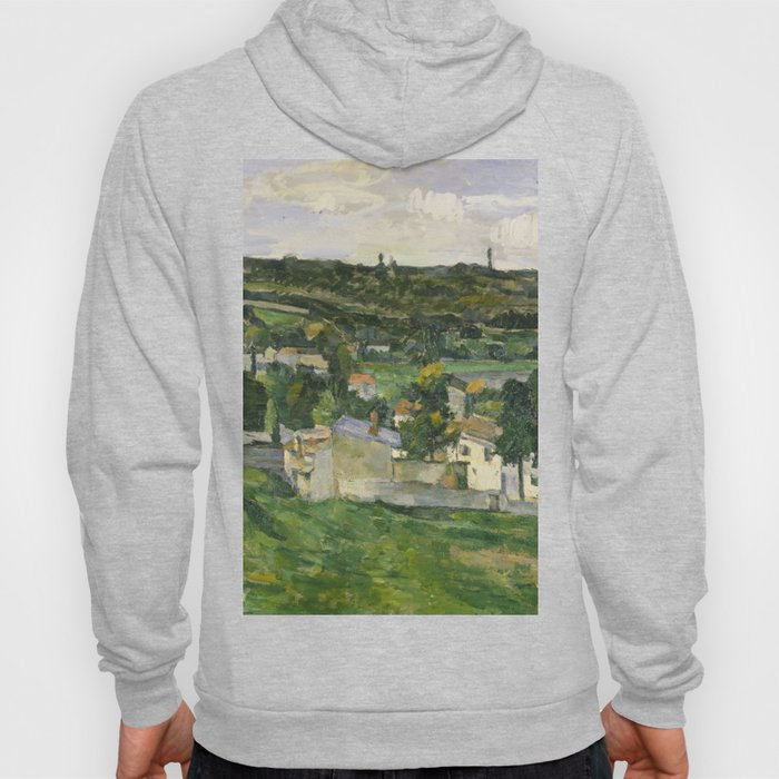 Stolen Art - View of Auvers-sur-Oise by Paul Cezanne Hoody