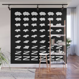 Shleep Tight / Sheep shapes morphing into Zs Wall Mural