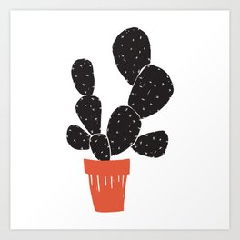 Potted Cacti Art Print