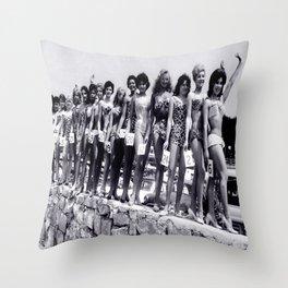 Miss Festival de Cannes 1956 Throw Pillow