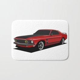 Mustang Boss Red Bath Mat