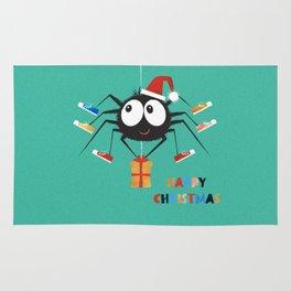 Happy Christmas Santa Spider Rug