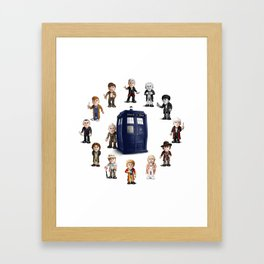 Timelord Clock Framed Art Print