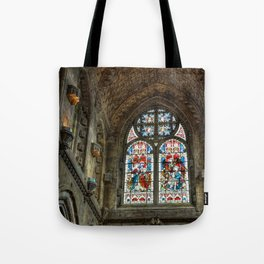 Chapel Stained Glass Window Tote Bag