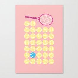 A Blue Tennis Ball in the Rough Canvas Print