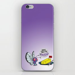 Lonely Butterfree iPhone Skin