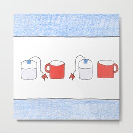 Tea for two Chicago Style Metal Print