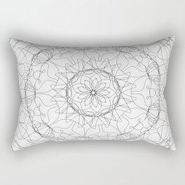 the fountain - floral mandala Rectangular Pillow