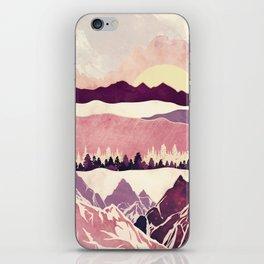 Burgundy Hills iPhone Skin