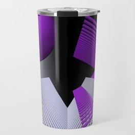 geometry violet -03- Travel Mug
