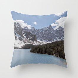 Landscape Photography Lake Moraine Mountain ridge Throw Pillow