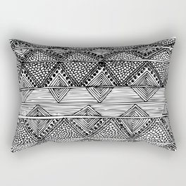Abstract black and white digitised hand drawing art Rectangular Pillow