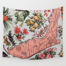 Vintage Map of Florida (1917) Wall Tapestry