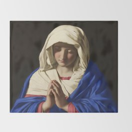 The Virgin in Prayer by Giovanni Sassoferrato (c. 1645) Throw Blanket