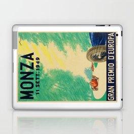 Grand Prix Monza, 1949, Gran Premio Monza, vintage poster Laptop & iPad Skin