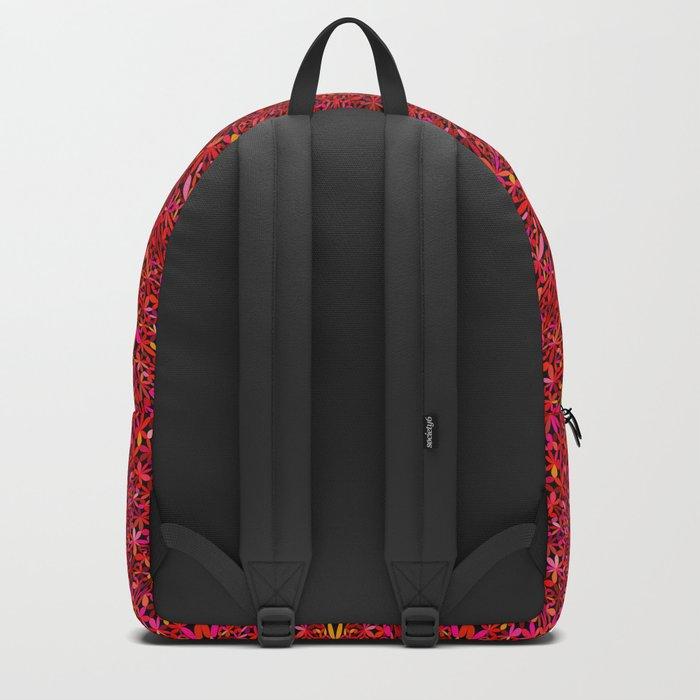 Red Jungle Mandala Backpack