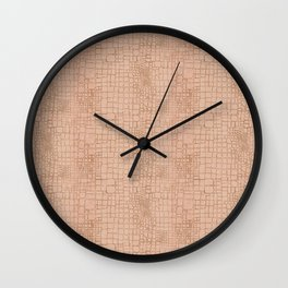 crocodile skin Wall Clock