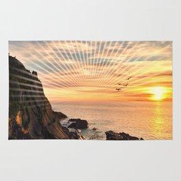 Californian sunset - Graphic sunset Rug
