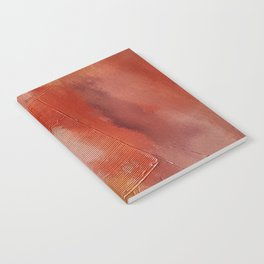 Desert Journey [1]: a textured, abstract piece in pinks, reds, and white by Alyssa Hamilton Art Notebook