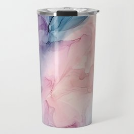 Dark and Pastel Ethereal- Original Fluid Art Painting Travel Mug
