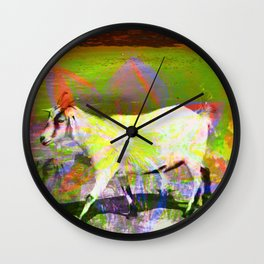 goat flower Wall Clock