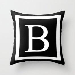 B Monogram Throw Pillow