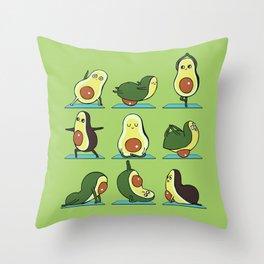 Avocado Yoga Throw Pillow