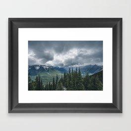 Mountainous Landscape Banff Gondola Framed Art Print