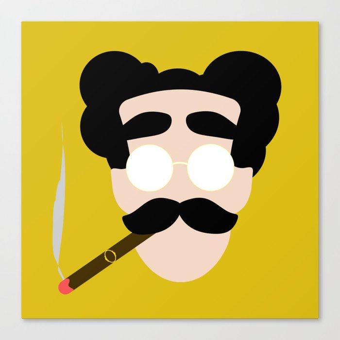 4menSmoking- Groucho Canvas Print