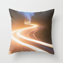 Winding Backroad Throw Pillow