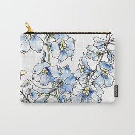 Blue Delphinium Flowers Carry-All Pouch