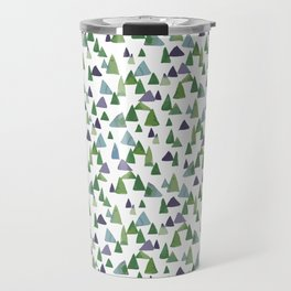 Abstract Watercolor Forest Travel Mug