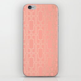 Simply Mid-Century in White Gold Sands on Salmon Pink iPhone Skin