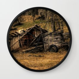 Visions Of The Past Wall Clock