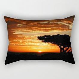 Fiery Dragon Rectangular Pillow