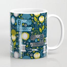 Garden of Sewing Supplies - Navy Coffee Mug