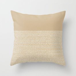 Riverside - Sand Throw Pillow