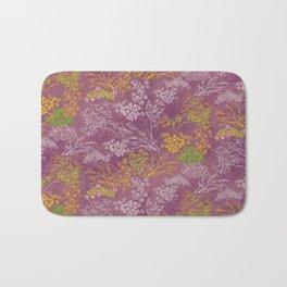 Japanese pattern floral purple Bath Mat