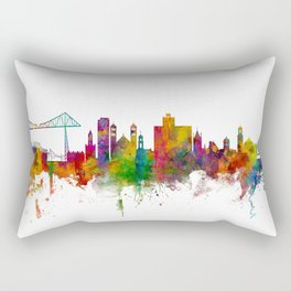 Middlesbrough England Skyline Rectangular Pillow